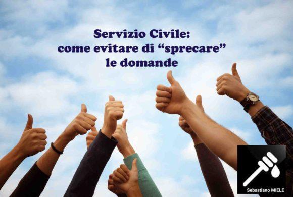 Servizio Civile: come evitare di sprecare le domande?