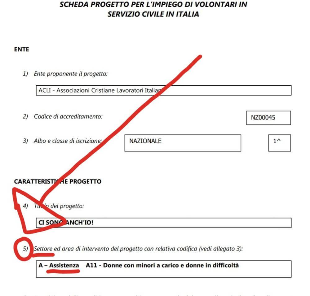 settore Dichiarazione Titoli per il servizio civile