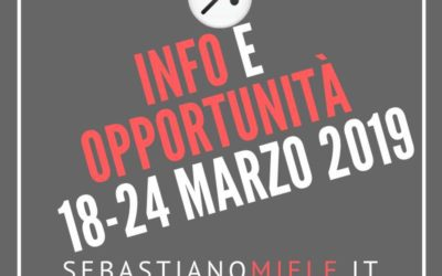 Newsletter 18 marzo 2019
