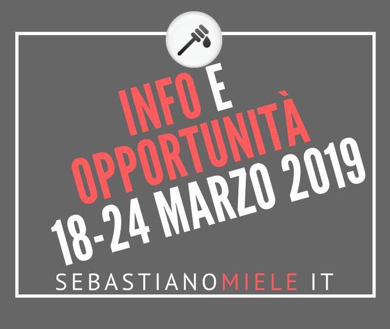 Newsletter 18 marzo 2019
