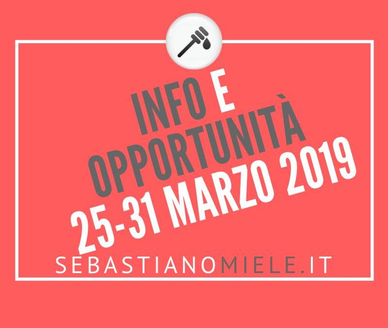 Newsletter 25 marzo 2019