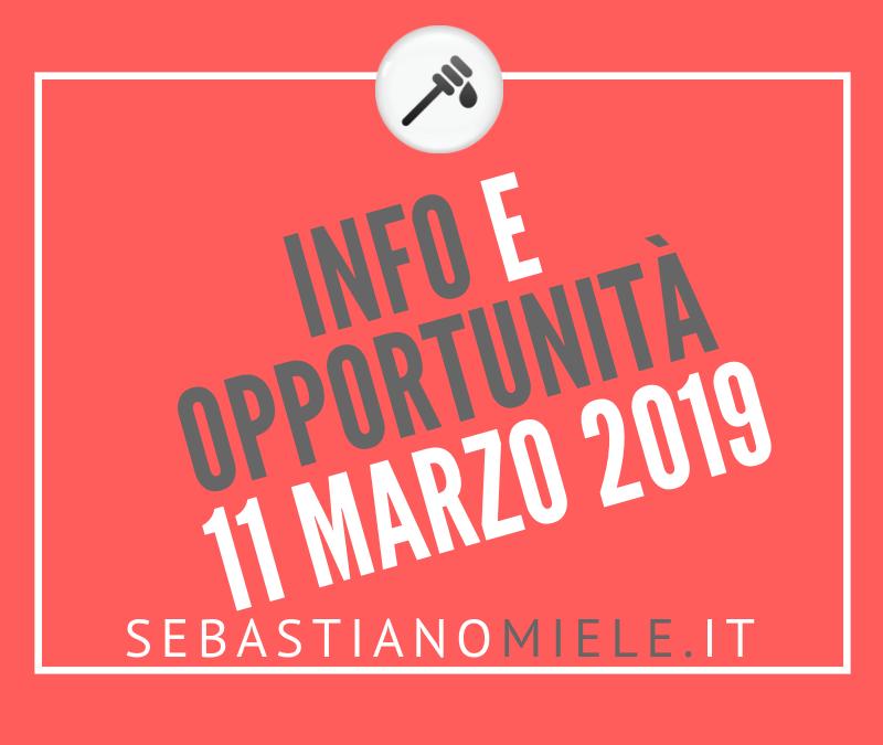 Newsletter 11 marzo 2019
