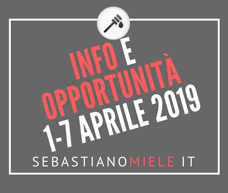 Newsletter 1 aprile 2019