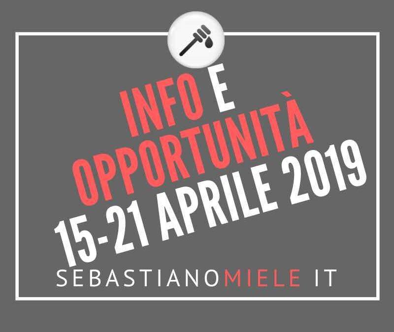 Newsletter 15 aprile 2019