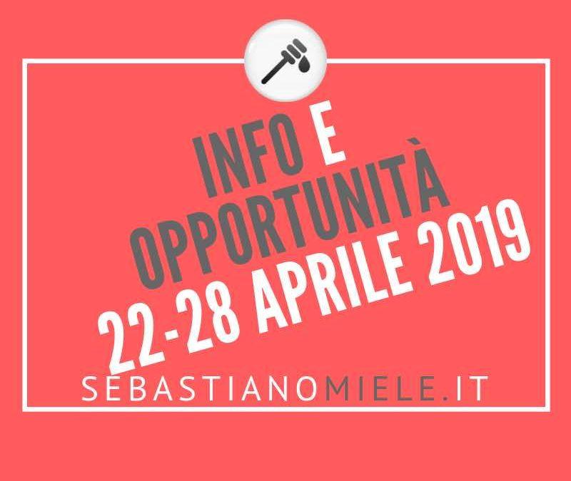 Newsletter 22 aprile 2019