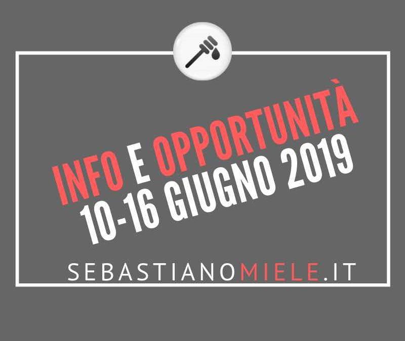Newsletter 10 giugno 2019